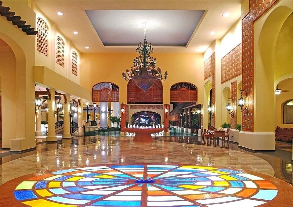 Lobby building Dining function hall plaza palace ballroom colorful bright colored Resort