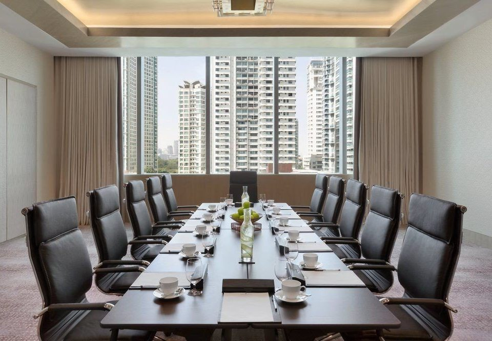 property conference hall Dining condominium living room Lobby meeting Suite waiting room conference room set