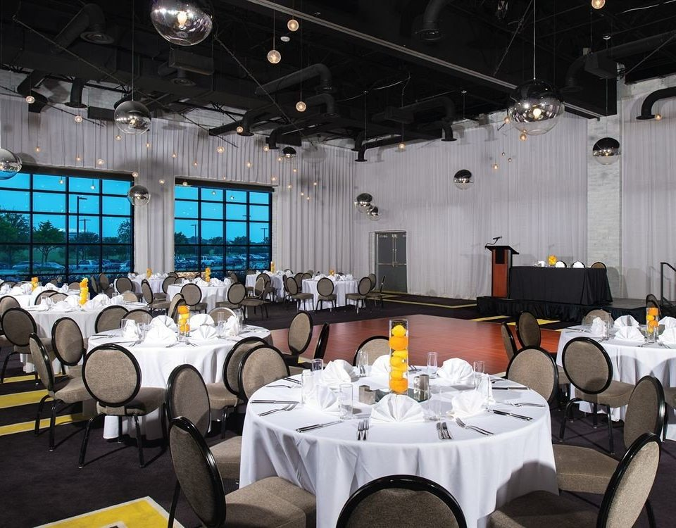 Dining Modern function hall conference hall convention auditorium academic conference meeting convention center banquet