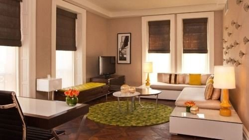 living room property condominium Suite home hardwood Villa cottage Dining Modern leather
