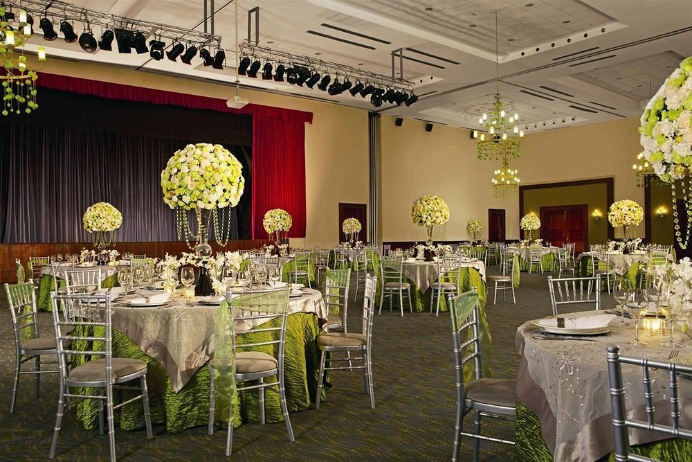 chair function hall aisle wedding banquet ceremony wedding reception Party floristry Dining ballroom flower arranging floral design set fancy dining table