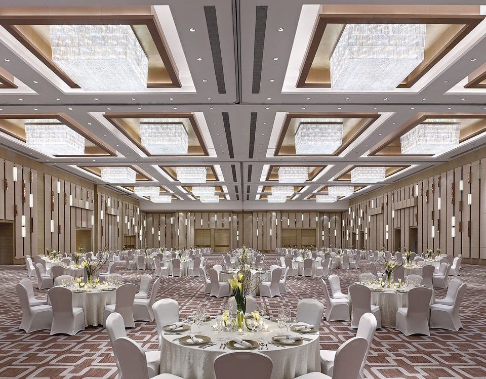 chair function hall aisle Dining wedding banquet ceremony ballroom wedding reception Party restaurant dining table