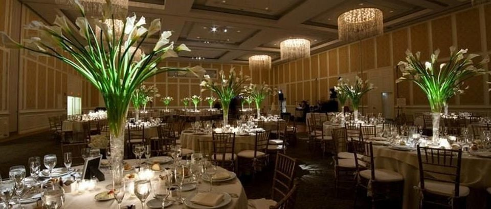 Dining function hall plant wedding banquet flower wedding reception ceremony restaurant centrepiece ballroom floristry Party convention center aisle dinner flower arranging floral design buffet set dining table