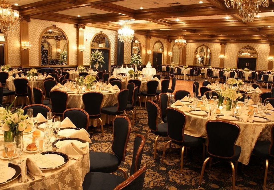 function hall banquet wedding wedding reception restaurant dinner ceremony ballroom Party Dining rehearsal dinner full dining table