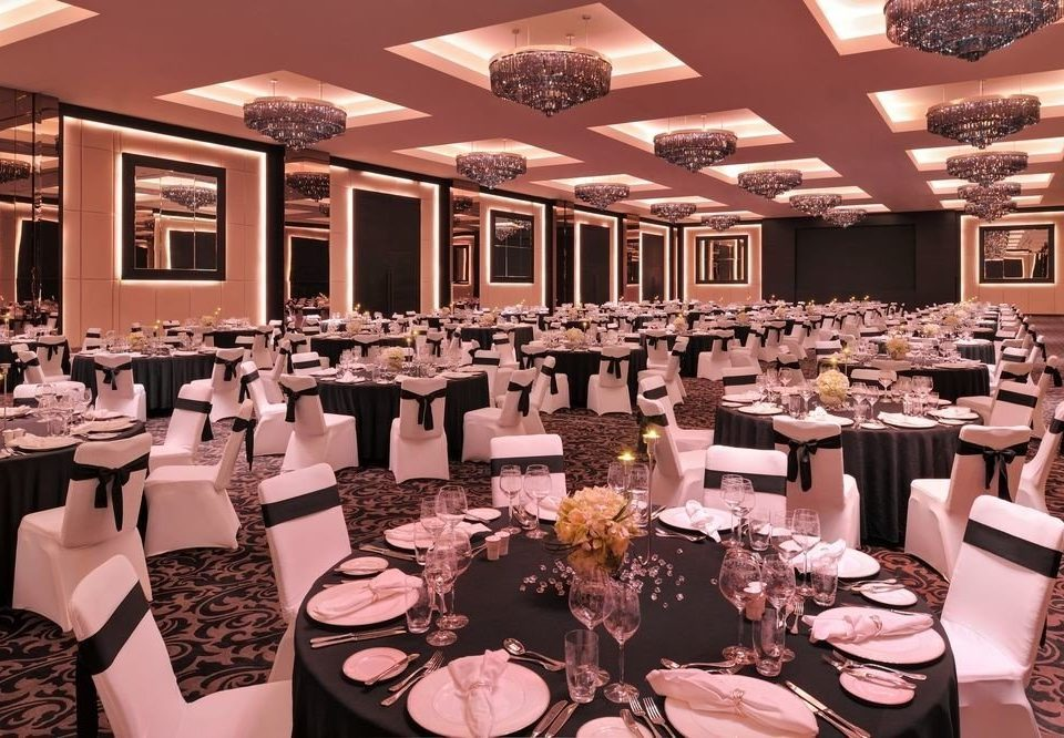 Dining function hall plate banquet wedding restaurant wedding reception ballroom Party ceremony rehearsal dinner dinner set