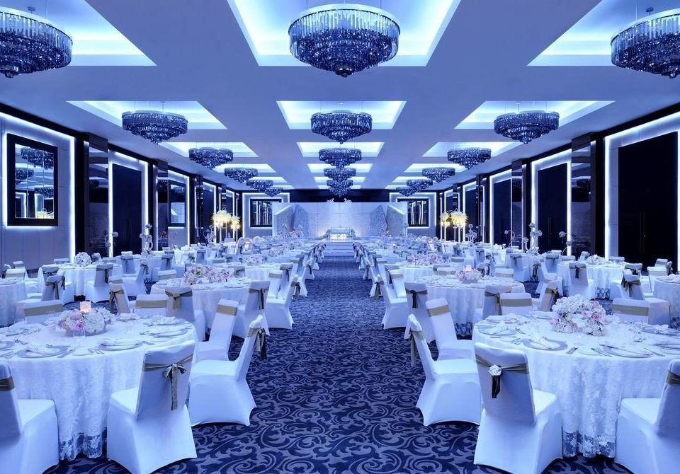 function hall banquet wedding wedding reception ballroom Party convention center conference hall Dining set restaurant