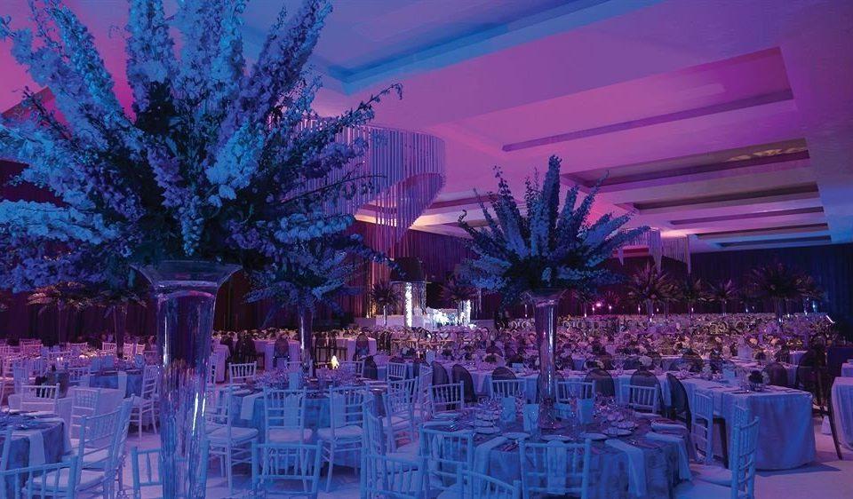 purple function hall quinceañera wedding reception centrepiece Party banquet ceremony wedding Dining flower ballroom set
