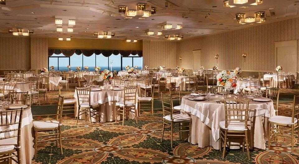 chair Dining function hall wedding banquet wedding reception ceremony ballroom Party event convention center set restaurant dining table