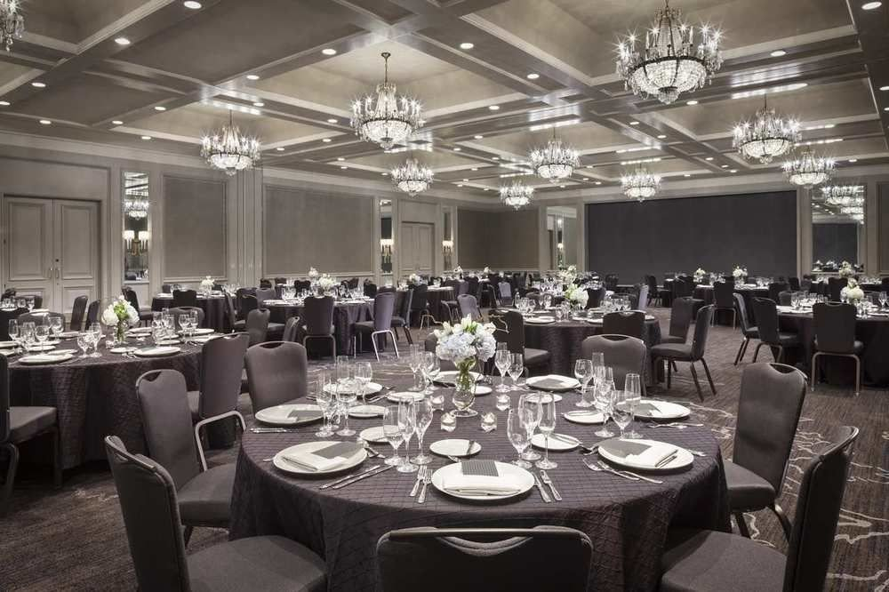 Dining function hall chair banquet restaurant ballroom conference hall wedding reception convention center Party set empty