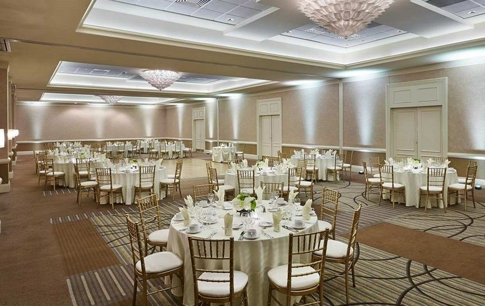 chair function hall banquet Dining conference hall ballroom wedding wedding reception Party restaurant convention center set dining table