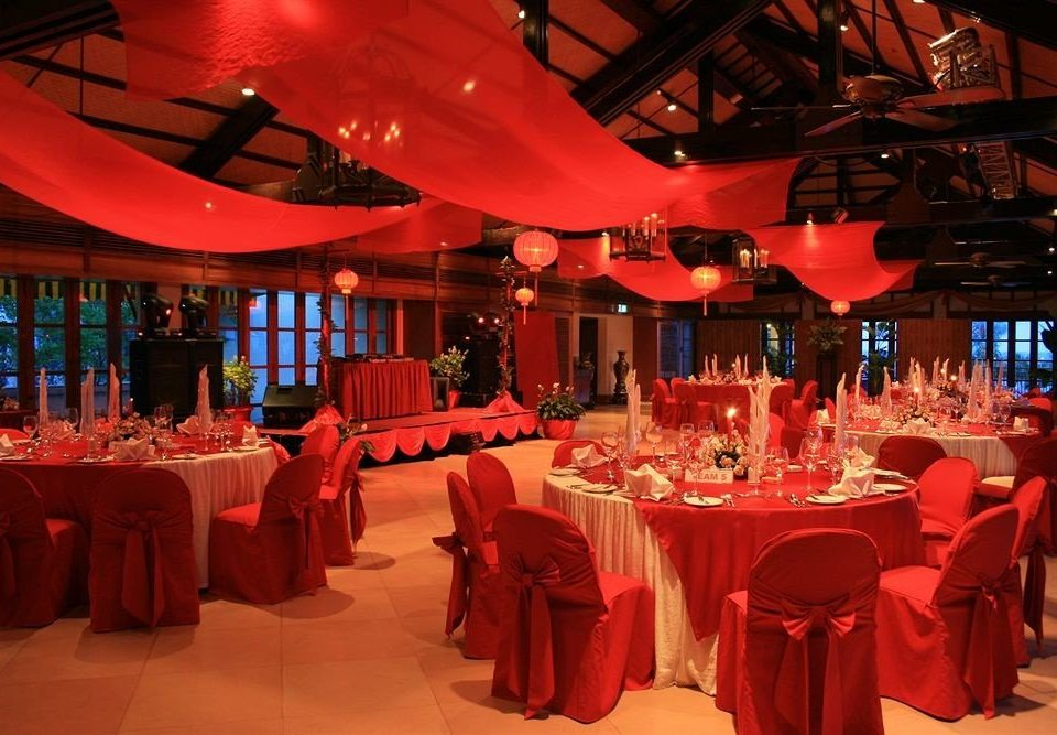 red function hall restaurant banquet quinceañera wedding reception Party wedding Dining ballroom