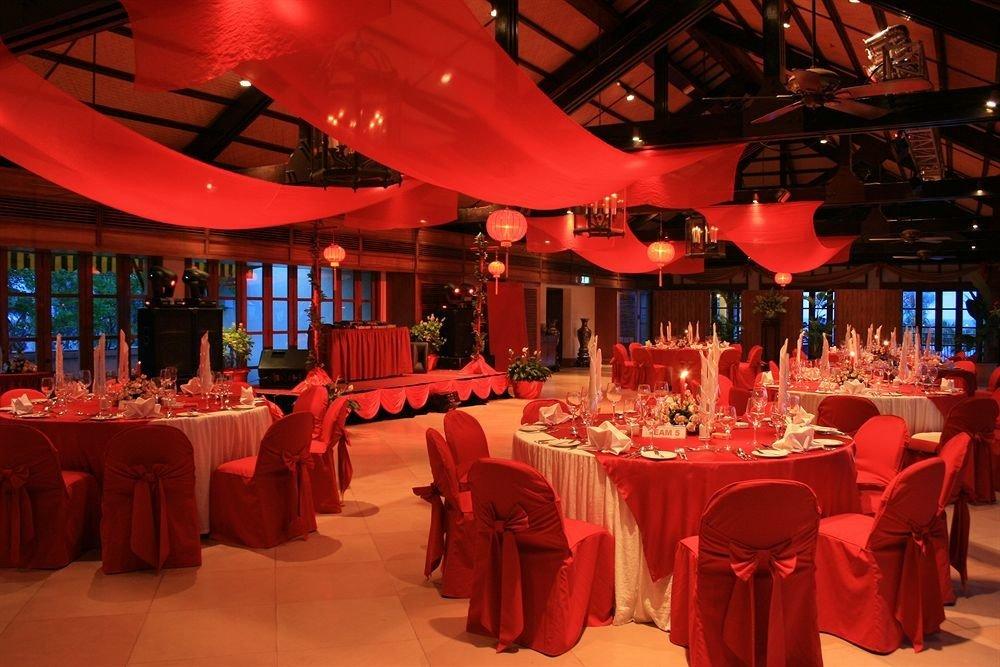 red function hall restaurant banquet quinceañera wedding reception Party wedding Dining ballroom