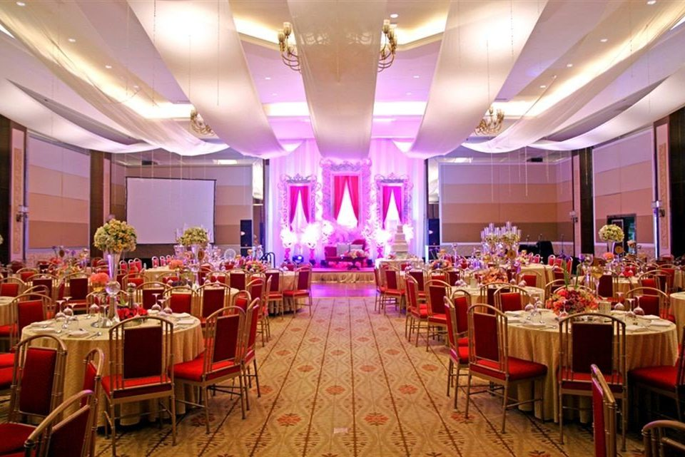 function hall chair Dining banquet wedding reception red Party wedding ceremony ballroom quinceañera event convention center conference hall