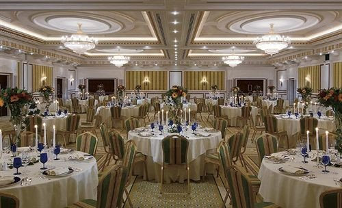 function hall banquet Dining ceremony ballroom wedding Party wedding reception event convention center set fancy round dining table
