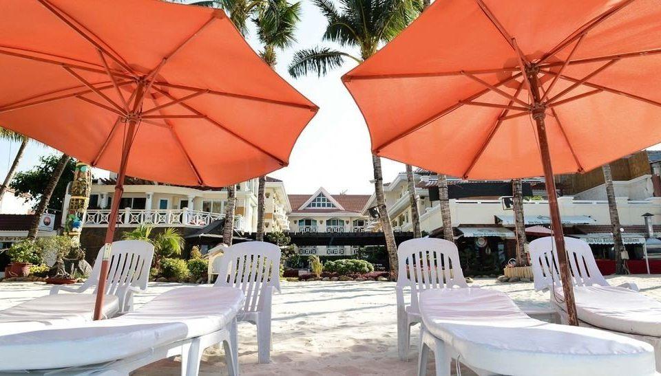 accessory umbrella chair ground leisure Dining Resort restaurant set tent orange shade