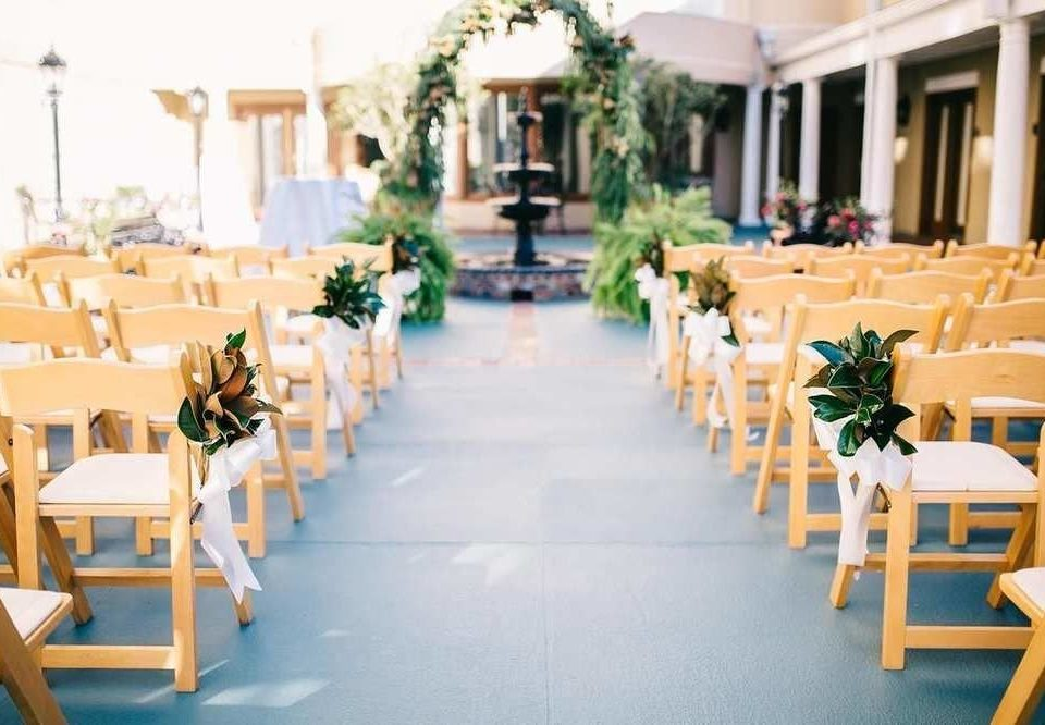 chair Dining aisle function hall ceremony banquet restaurant Resort ballroom porch set dining table