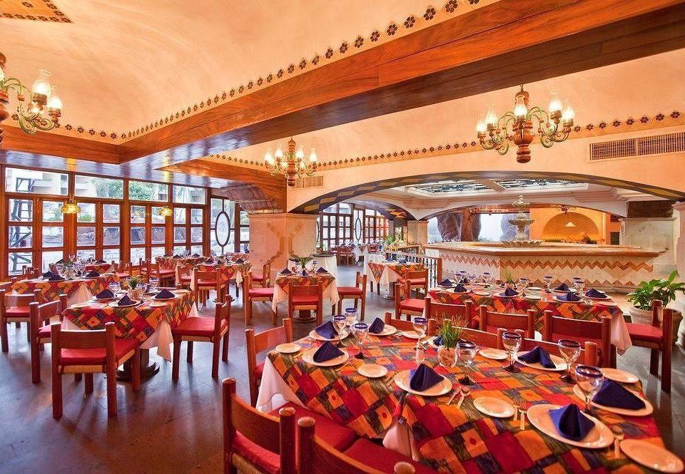 chair Dining function hall scene restaurant palace Resort banquet ballroom orange set dining table