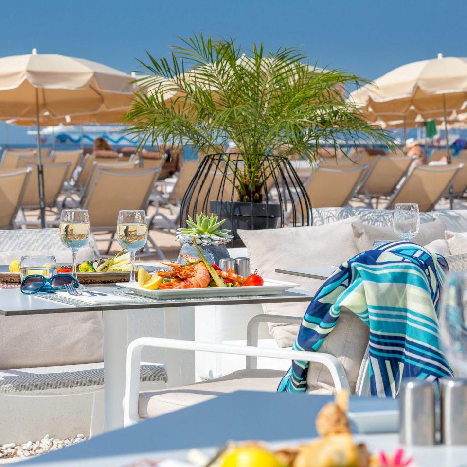 umbrella chair Resort restaurant Dining brunch set