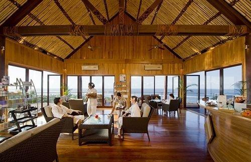 Resort building restaurant Dining wooden eco hotel cottage