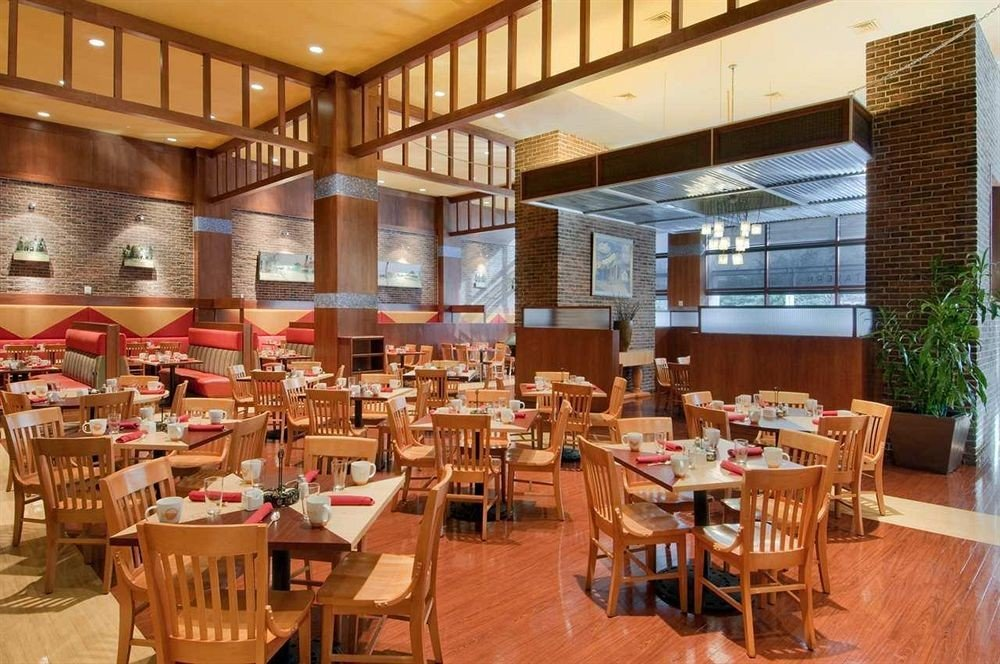 chair Dining restaurant wooden cafeteria function hall café Resort dining table