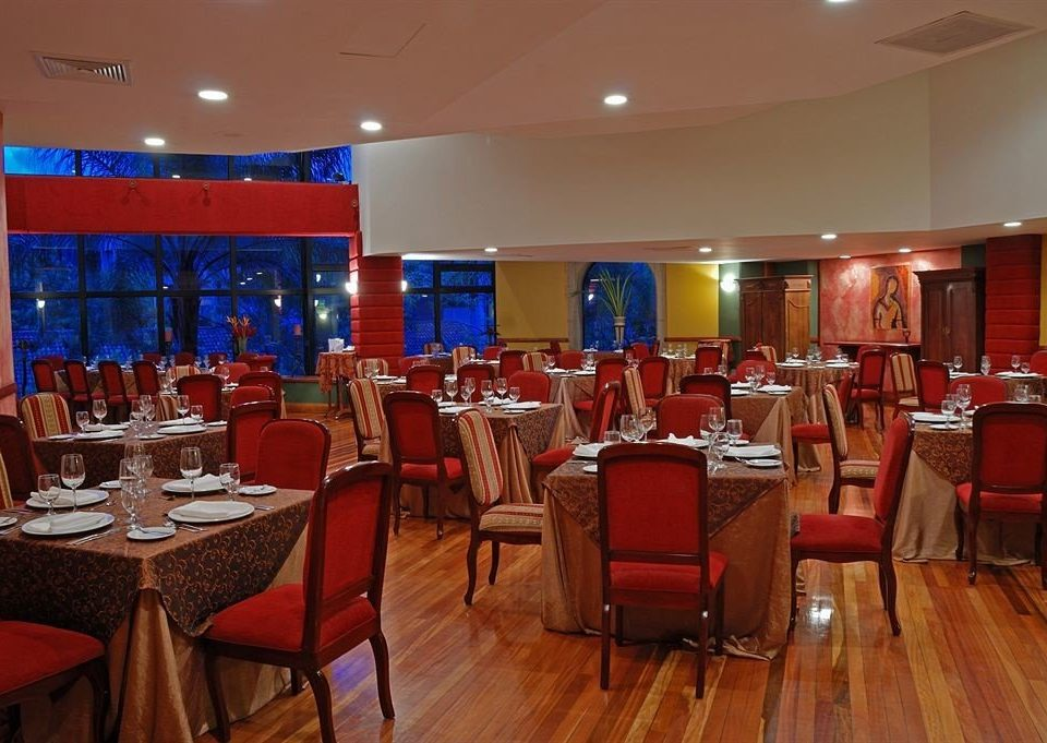 chair restaurant function hall Dining red conference hall Resort