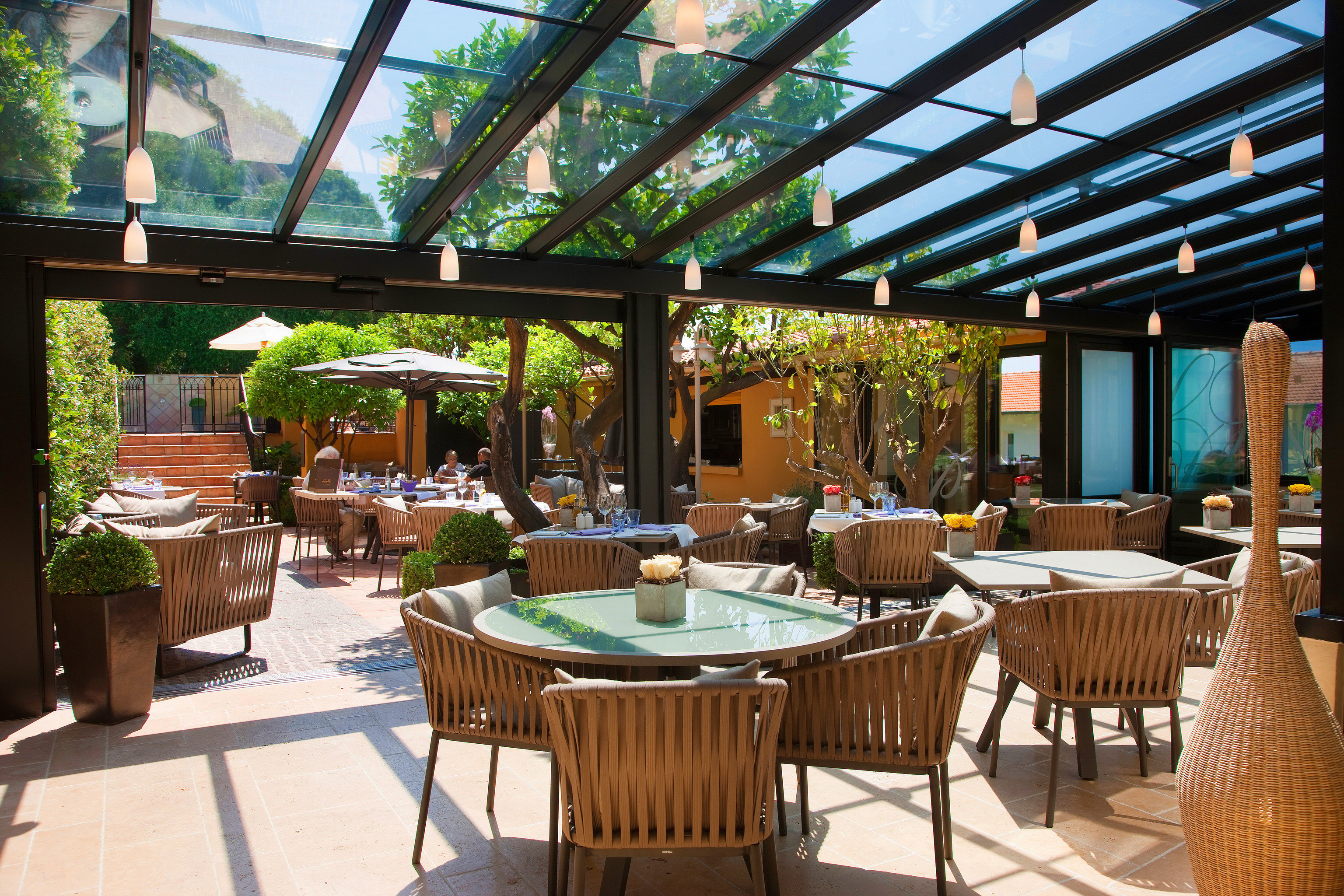chair restaurant Resort function hall Dining outdoor structure day