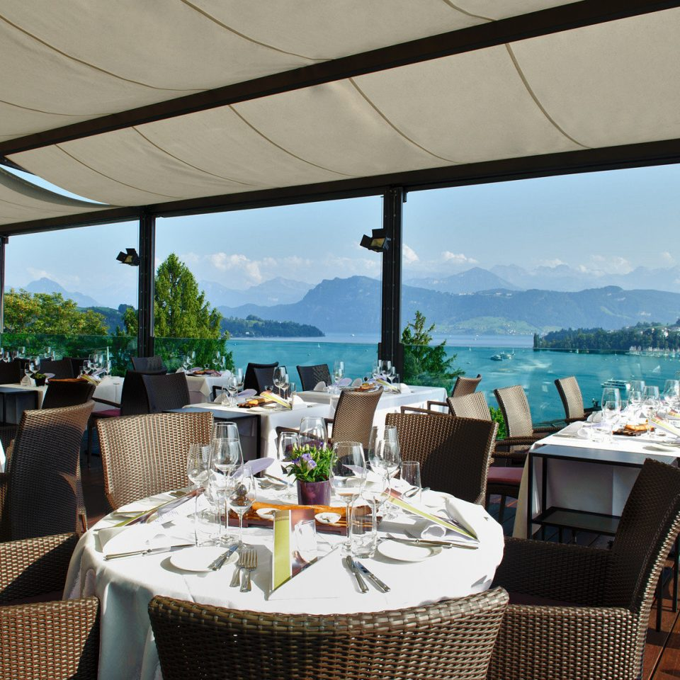 Dining dining table open-air outdoor dining view chair restaurant overlooking Resort