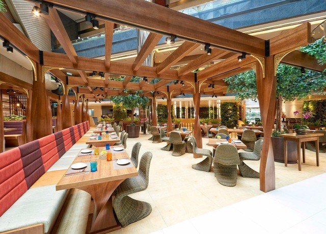 leisure property chair Resort wooden Dining restaurant outdoor structure plaza