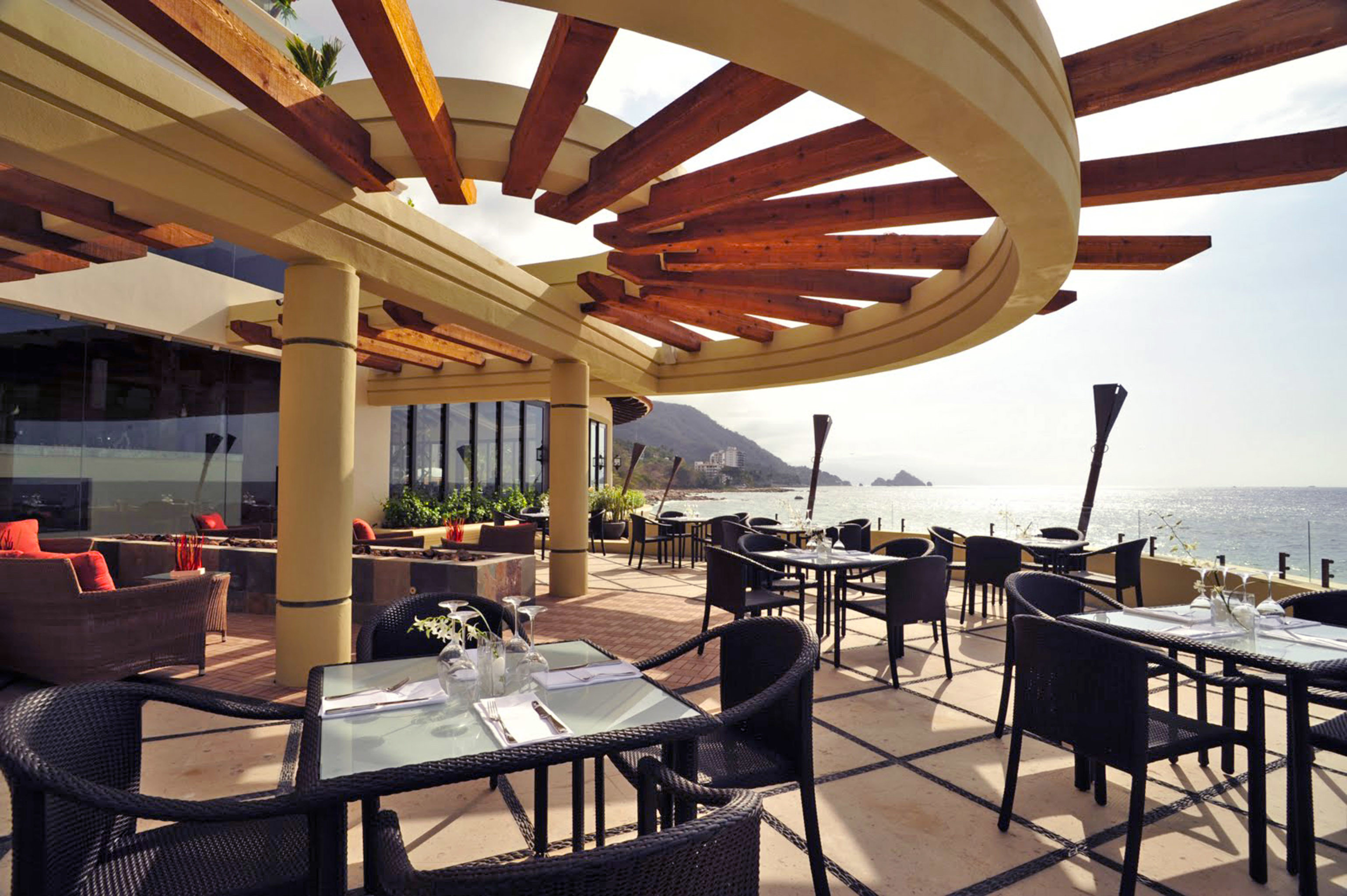 chair property restaurant outdoor structure Dining Resort pergola