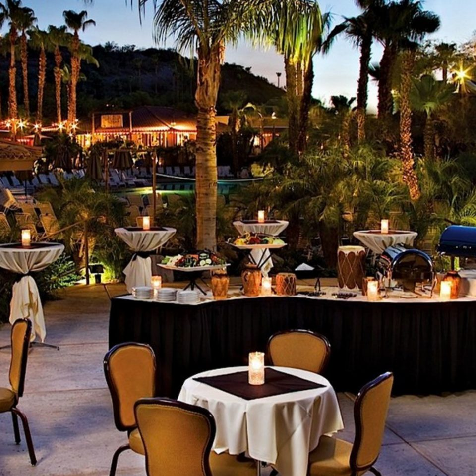 chair tree Dining restaurant Resort set overlooking