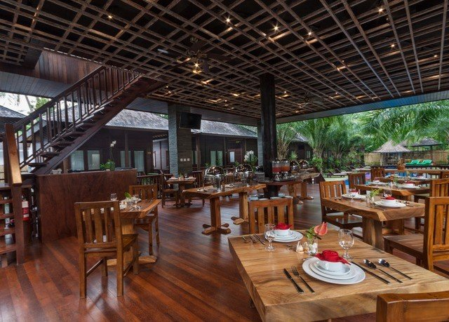 wooden property restaurant Resort Dining