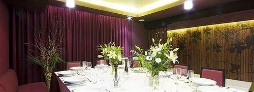 Dining function hall banquet restaurant red Resort floristry Suite set fancy