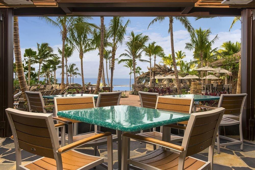 tree chair property building Resort green palm Villa plant home condominium cottage Dining backyard set