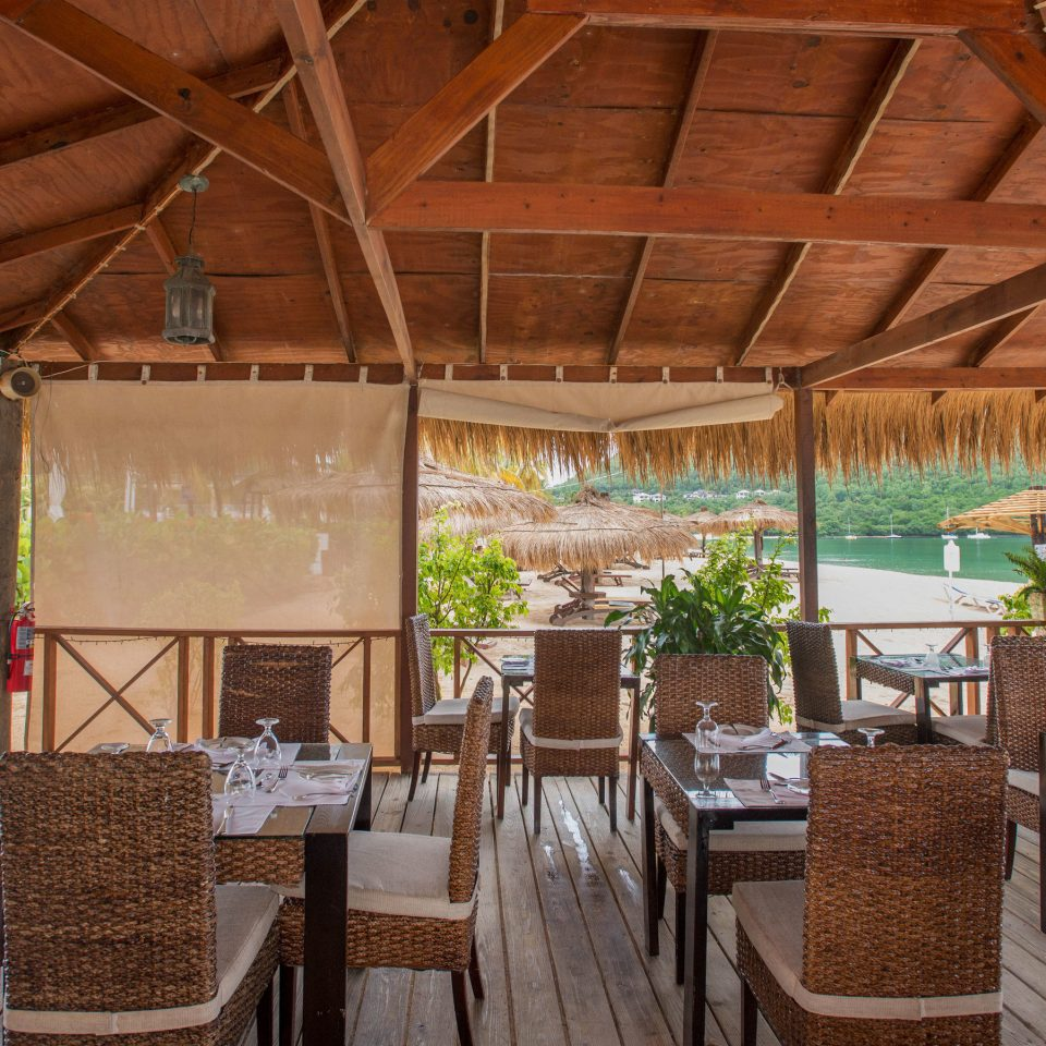 chair property Resort restaurant cottage outdoor structure Villa eco hotel backyard Dining hacienda