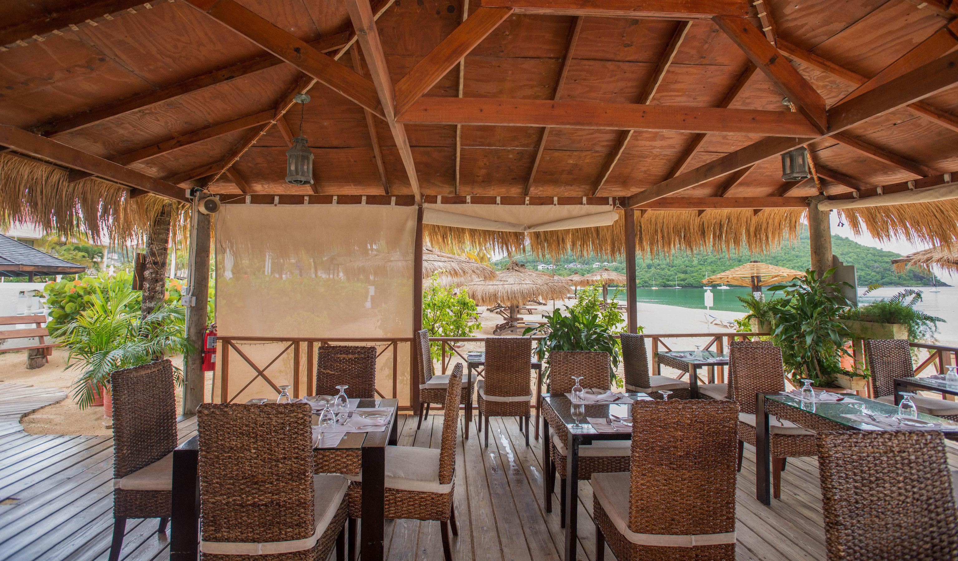 chair property Resort restaurant cottage outdoor structure Villa eco hotel backyard Dining hacienda