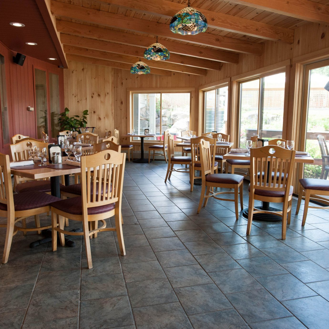 chair property building wooden Resort Dining restaurant cottage porch Villa