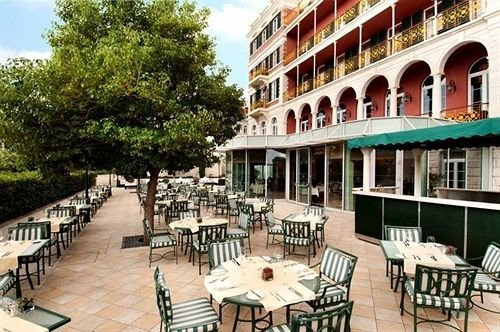 tree chair property plaza building Dining Resort white restaurant condominium palace Villa