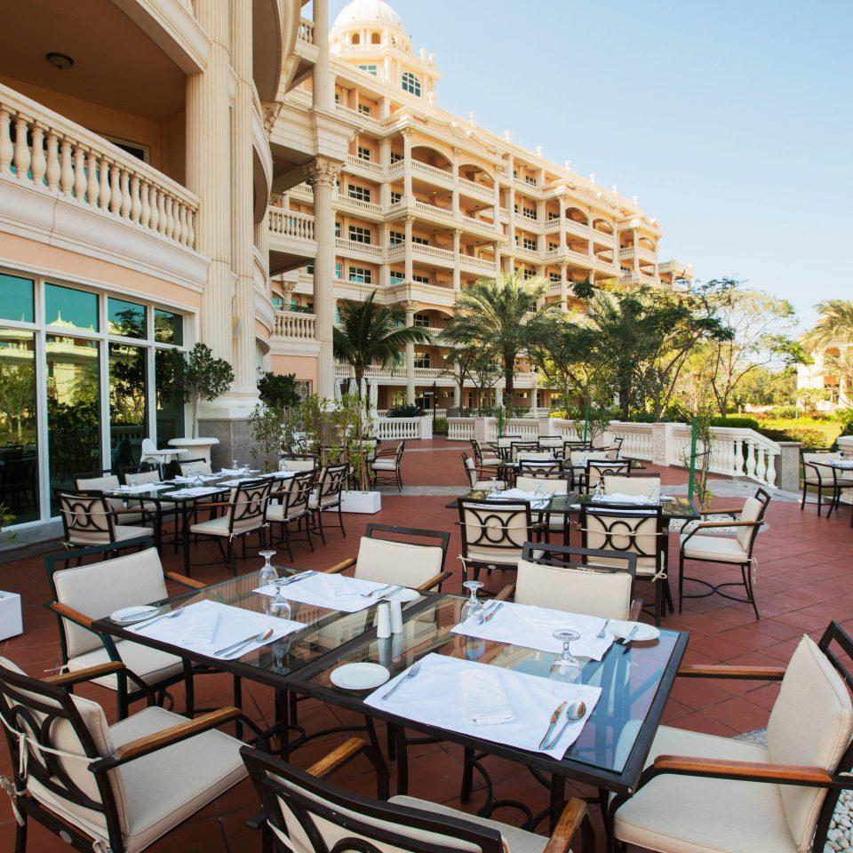 chair property building Resort condominium restaurant palace Villa Dining plaza set