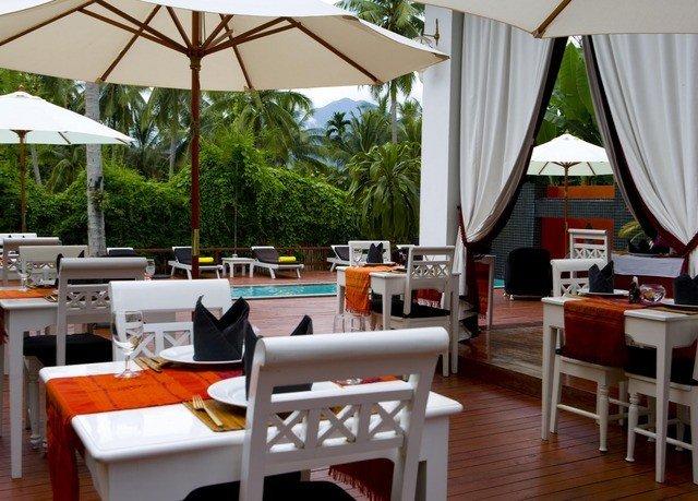 tree chair property restaurant Resort cottage Villa Dining