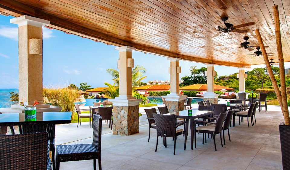 chair property restaurant Resort Dining wooden Villa hacienda