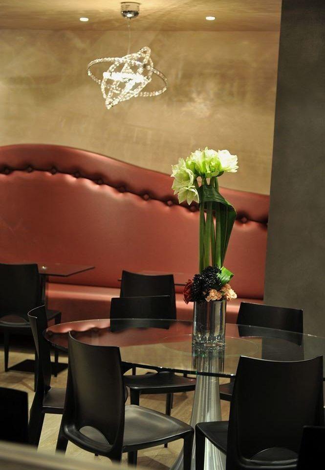 lighting restaurant living room flower set lamp dining table leather
