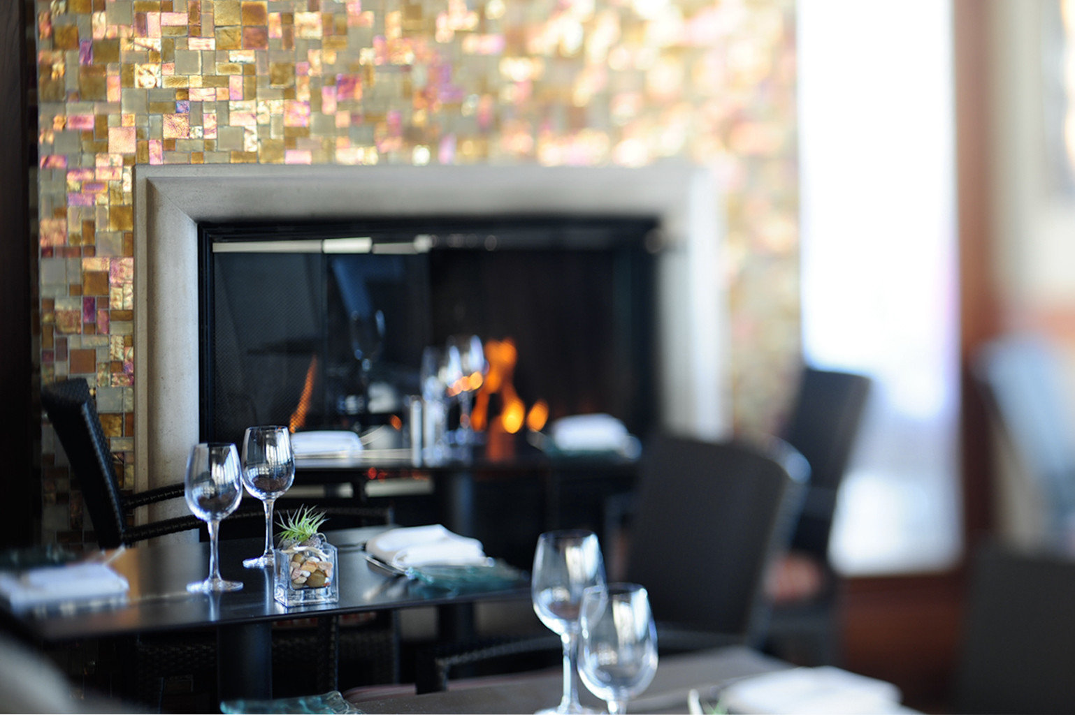 restaurant home glass living room dining table