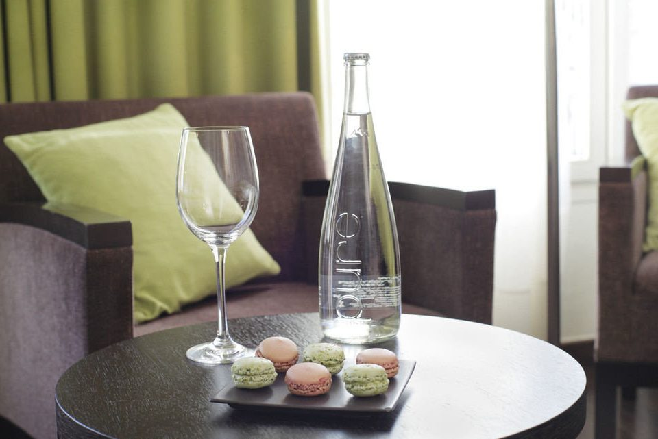 plate wine glass lighting restaurant dining table