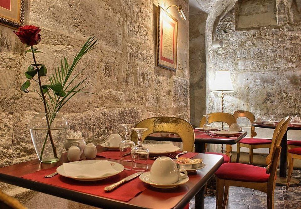 restaurant red hacienda dining table