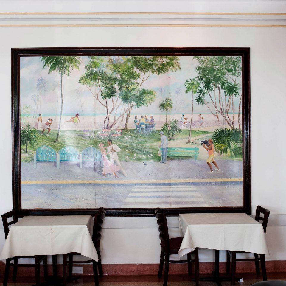 home mural modern art living room dining table