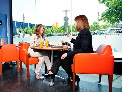 orange restaurant dining table