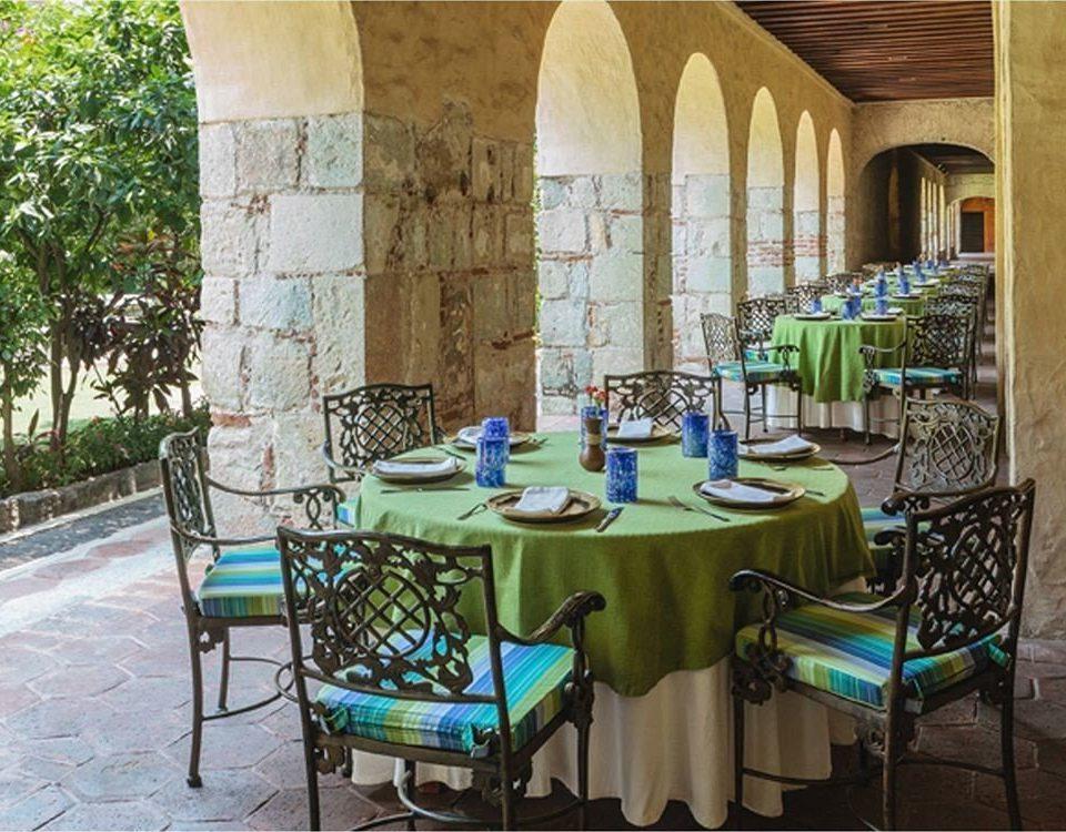 Dining Terrace chair property home hacienda cottage Villa restaurant mansion