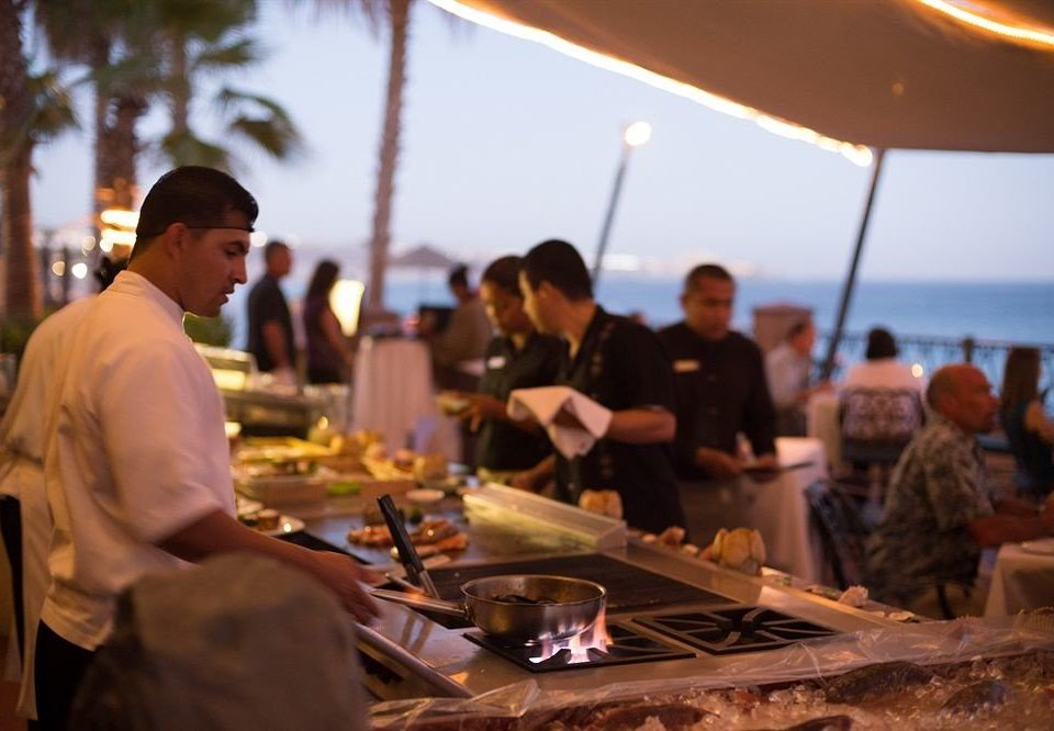 food sense dinner restaurant preparing