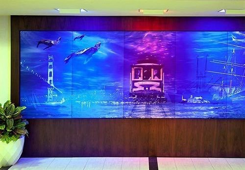 television monitor screen display device flat signage mural flat panel display display