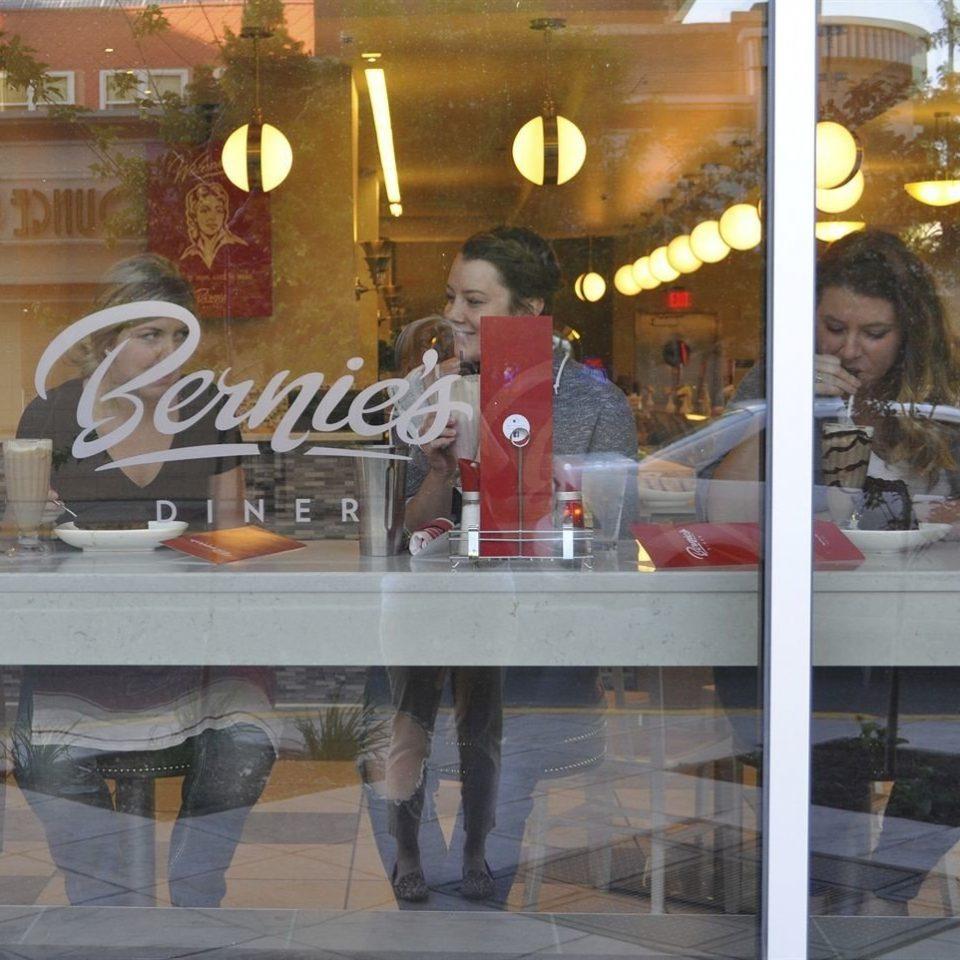 restaurant display window store
